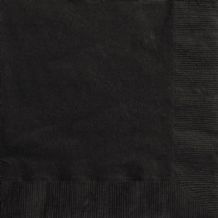 Black Napkins (20pcs) 2-Ply Paper Napkins